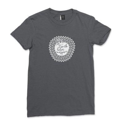 Teach Love Inspire shirt Women Back To School T-Shirt Casual Women Funny Grade Teacher Field Trip Tee Top