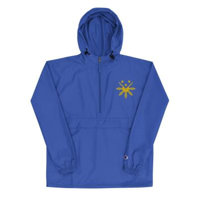 Filipino Symbol Sun Star Embroidered Champion Packable Jacket Unisex / Men's Funny Filipino Clothing Pinoy Pinay Phillippines Pride