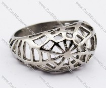 Stainless Steel Cobweb Ring - JR280004