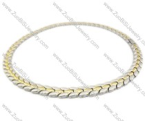 Stainless Steel Magnetic Necklace - JN250010