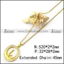 Gold Plating L Charm Chain n001701