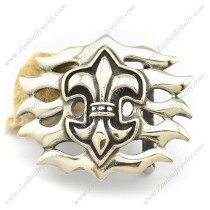 Stainless Steel Fleur-De-Lis Belt Buckle bu000025
