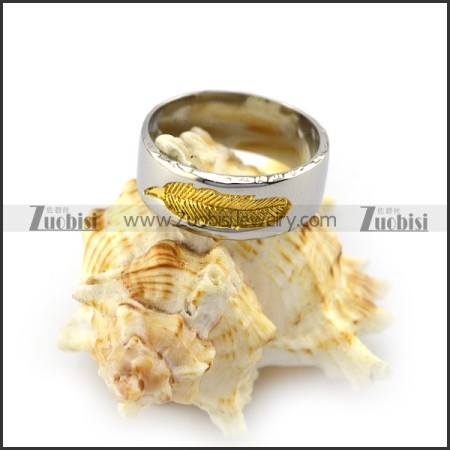 Golden Corrosion Leaf Ring r004421