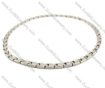 Stainless Steel Magnetic Necklace - JN250005