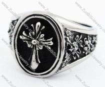 Stainless Steel Cross Ring - JR370016