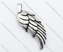 Stainless Steel feather Pendant-JP330048