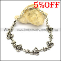 Fleur De Lis and Crown Bracelet for Ladies b003471