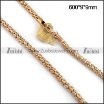 Rose Gold Plated Popcorn Chain in 9 MM Wide n001095