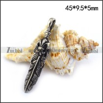 45MM Long Feather Charm p003478