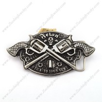 Two Guns Belt Buckle for Cowboys bu000047