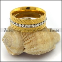 14k Gold Wedding Rings in Stainless Steel r003421