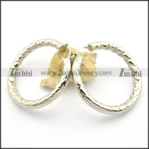 6MM Big Line Diameter Steel Earring e000997