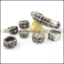 cheap 316L stainless steel ring sets -s000274