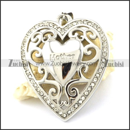 Hot Selling Rhinestone Heart Pendant -p001105