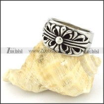 Stainless Steel Cross Ring -r000551