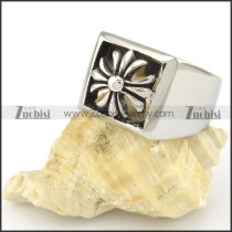 Stainless Steel Cross Ring -r000555