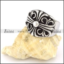 Stainless Steel Cross Ring -r000553