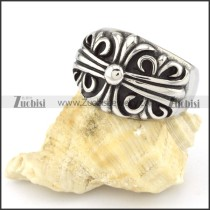 Stainless Steel Cross Ring -r000554