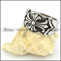 Stainless Steel Cross Ring -r000552