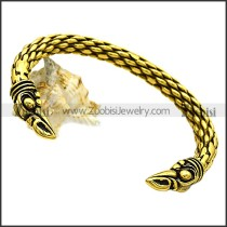 Gold Plating Stainless Steel Raven Bangle b009757