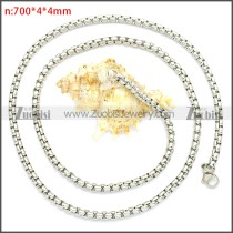 Stainless Steel Chain Neckalce n003089SW4