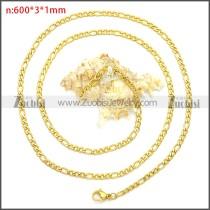 Stainless Steel Chain Neckalce n003087GW3