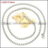 Stainless Steel Chain Neckalce n003088SW4