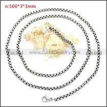 Stainless Steel Chain Neckalce n003088SHW3