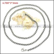Stainless Steel Chain Neckalce n003089SHW3