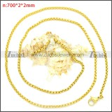 Stainless Steel Chain Neckalce n003089GW2