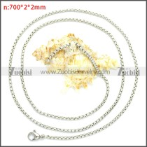Stainless Steel Chain Neckalce n003089SW2