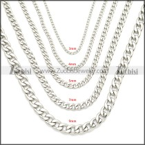 Stainless Steel Chain Neckalce n003090SW9