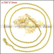 Stainless Steel Chain Neckalce n003097GW2