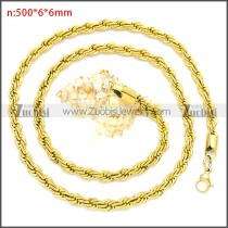 Stainless Steel Chain Neckalce n003096GW6