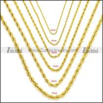 Stainless Steel Chain Neckalce n003097GW7