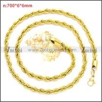 Stainless Steel Chain Neckalce n003097GW6
