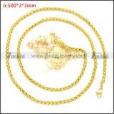 Stainless Steel Chain Neckalce n003094GW3