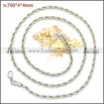70CM Long 4MM Wide Stainless Steel Rope Chain Neckalce n003097SW4