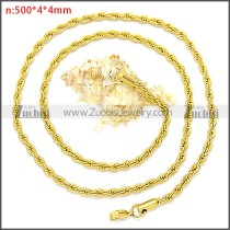 Stainless Steel Chain Neckalce n003096GW4