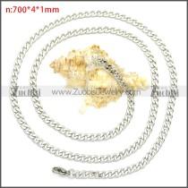 Stainless Steel Cuban Chain Neckalce n003091SW4