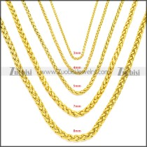 Stainless Steel Chain Neckalce n003095GW8