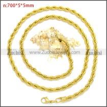 Stainless Steel Chain Neckalce n003097GW5