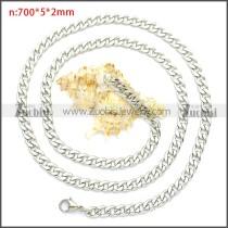 Stainless Steel Cuban Chain Neckalce n003091SW5