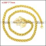 Stainless Steel Chain Neckalce n003094GW7