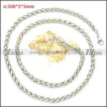 Stainless Steel Wheat Chain Neckalce n003094SW5