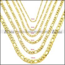 Stainless Steel Figaro Chain Neckalce n003093GW10