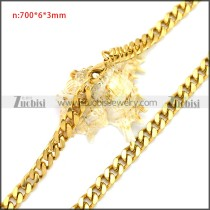 Stainless Steel Chain Neckalce n003116G
