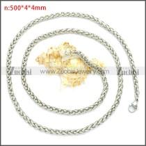 Stainless Steel Wheat Chain Neckalce n003094SW4