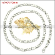 Stainless Steel Figaro Chain Neckalce n003093SW5