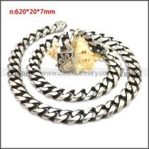 Stainless Steel Chain Neckalce n003137SHW12